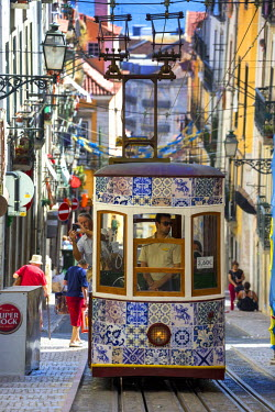IBLBLO03715281 Ascensor da Gloria funicular, Baixa, Lisbon, Lisbon District, Portugal
