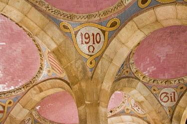 IBLGAB01128921 Entrance hall, Hospital de la Santa Creu i Sant Pau, Unesco World Heritage Site, architect Luis Domenech y Montaner, Eixample District, Barcelona, Catalonia, Spain, Unesco World Heritage Site