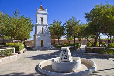 IBLHAN00604095 Bell tower, Iglesia San Lucas church (1750), Toconao, Region de Antofagasta, Chile, South America