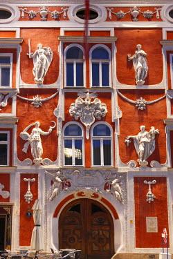 IBXMAN02255396 Facade of the Hacklhaus building, Leoben, Upper Styria, Styria, Austria