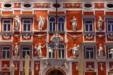 IBXMAN02255397 Facade of the Hacklhaus building, Leoben, Upper Styria, Styria, Austria