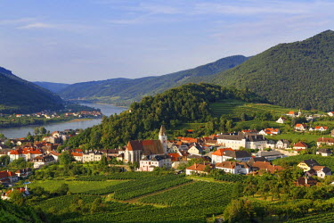 IBXMAN04017993 Townscape, Spitz an der Donau, Wachau, Waldviertel, Lower Austria, Austria