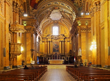 ARG2175AW Argentina, Cordoba, Interior view of the Cathedral of Cordoba.