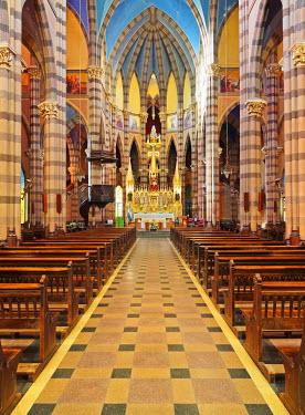 ARG2186AW Argentina, Cordoba, Interior view of the Los Capuchinos Church.
