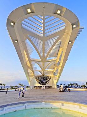 BRA3105AW Brazil, City of Rio de Janeiro, Praca Maua, View of the Museum of Tomorrow (Museu do Amanha) by Santiago Calatrava.