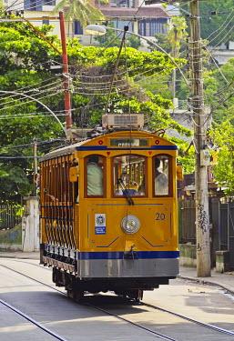 BRA3277AWRF Brazil, City of Rio de Janeiro, The Santa Teresa Tram.