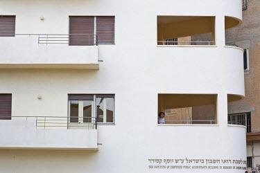 HMS0606264 Israel, Tel Aviv, Institute of Certified Public Accountants, Bauhaus building