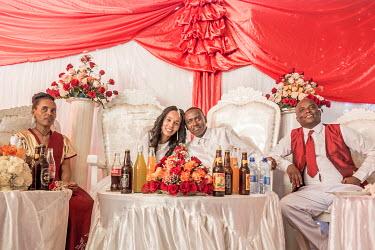 ETH3044AW Africa, Ethiopia, Addis Abeba. A wedding ceremony