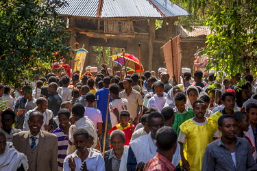 ETH3050AW Africa, Ethiopia, Tana Lake. Ceremony for the Timkat holiday.