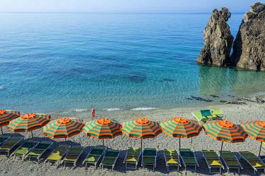 ITA9005AW Europe, Italy, Liguria. Beach in Monterosso, Cinque Terre.