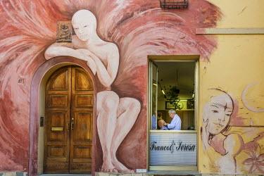 ITA9110AW Europe, Italy, Emilia-Romagna. a street scene in Dozza