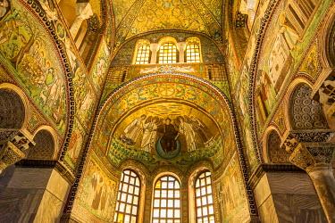 ITA9111AW Europe, Italy, Emilia-Romagna. Mosaico fo the basilica San Vitale in Ravenna.