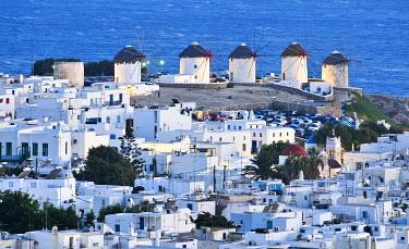 IBXGZS00898750 Windmills, the landmark of Mykonos, Cyclades, Greece