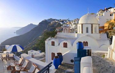 IBXGZS00906082 Survey, panoramic view of Oia or Ia City, Santorin, Santorini, Cyclades, Greece