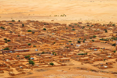 IBXGIV04194521 Evening mood, desert town, Moudjeria, Tagant region, Mauritania, Africa
