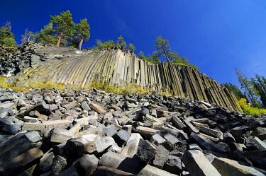 IBXGZS00744481 Basalt columns, Mammoth Lake, Devil's Postpile National Monument, California, USA, North America