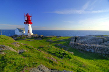 IBXGZS00295215 Lighthouse, Lindesnes, south cape, Vest-Agder, Norway