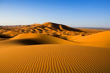 IBXDJS04228673 Sand dunes at Merzouga, Meknes-Tafilalet Region, Erg Chebbi, northern Sahara, Morocco, Africa