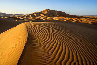 IBXDJS04228688 Sand dunes at Merzouga, Meknes-Tafilalet Region, Erg Chebbi, northern Sahara, Morocco, Africa