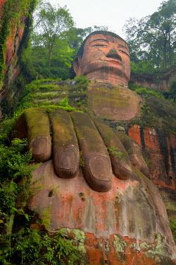 IBXSHU04035470 Largest stone Buddha statue in the world, Leshan Giant Buddha, Leshan, Sichuan, China