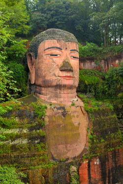 IBXSHU04035471 Largest stone Buddha statue in the world, Leshan Giant Buddha, Leshan, Sichuan, China