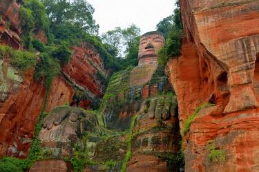 IBXSHU04035476 Largest stone Buddha statue in the world, Leshan Giant Buddha, Leshan, Sichuan, China