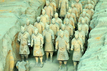IBXSHU04036602 Terracotta Army, Hall 1, Mausoleum of the First Qin Emperor, Xi'an, Shaanxi Province, China