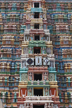 Gopuram of Srivilliputhur Vadapadrasayi temple, Srivilliputtur, Tamil Nadu, Tamilnadu, South India, India