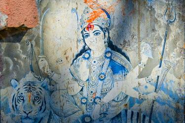 IBXOMK01867492 Goddess Durga, Kali Temple, Kolkata, Calcutta, West Bengal, India