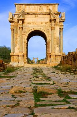 IBXGUF00210007 Arch of Septimus Severus, Leptis Magna, Libya, Africa
