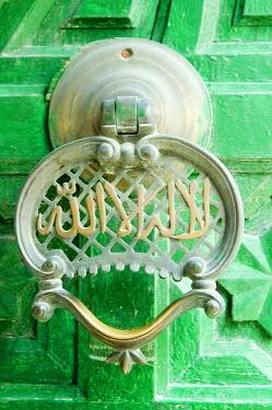 IBXGUF00226543 Door knocker, Medina of Tripoli, Libya, Africa