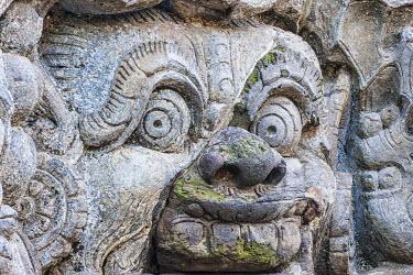 IBXGAB04041910 Sculptural relief, Goa Gajah Elephant Cave, Bali, Indonesia