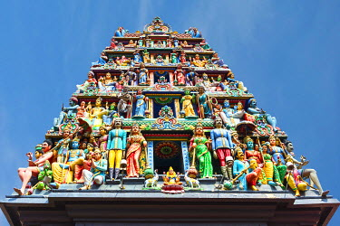 IBXGAB04006854 Hindu deities at Sri Mariamman or Mother Goddess Temple, Oldest Hindu Place of Worship, Chinatown, Singapore