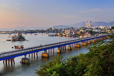 IBXGZS01608627 View of Nha Trang, Xom-Bong Bridge, Vietnam, Southeast Asia