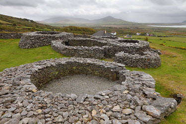 Caherdorgan Fort, Kilmalkedar, Dingle Peninsula, County Kerry, Ireland