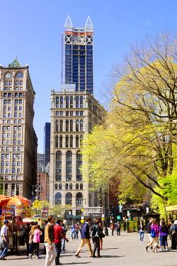 USA11546AW Centre street near New York city hall, New York city, USA