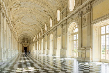 ITA9467AW Europe, Italy, Piedmont. The Galleria Grande of the Venaria reale.