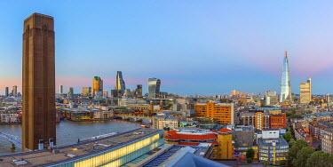 UK11083 UK, England, London, City of London from Tate Modern