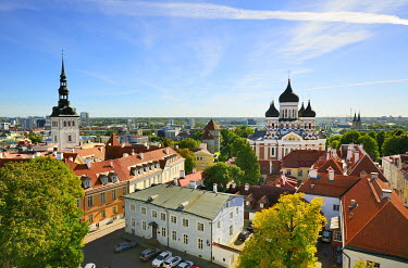 EST1179AW Alexander Nevsky Cathedral in Toompea Hill. Old Town of Tallinn, a Unesco World Heritage Site. Estonia