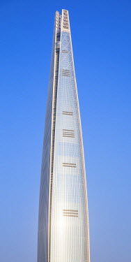 KR01315 Lotte Tower (555m supertall skyscraper, 5th tallest building in the world when completed in 2016), Seoul, South Korea