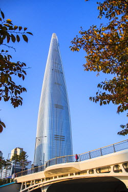 KR01317 Lotte Tower (555m supertall skyscraper, 5th tallest building in the world when completed in 2016), Seoul, South Korea