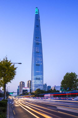 Lotte Tower (555m supertall skyscraper, 5th tallest building in the world when completed in 2016), Seoul, South Korea