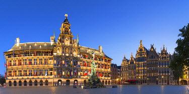 BEL1440AW Town Hall (Stadhuis) in Main Market, Antwerp, Flanders, Belgium