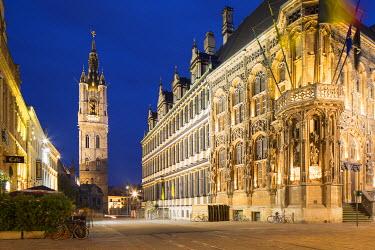 BEL1475AW Belfry (UNESCO World Heritage Site), Ghent, Flanders, Belgium