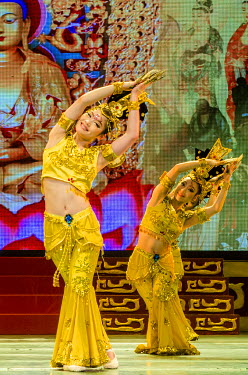 AS07MDE0182 Tang Dynasty Stage Show Xian, China.