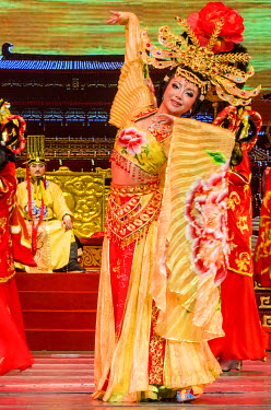 AS07MDE0184 Tang Dynasty Stage Show Xian, China.