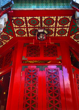 AS07WPE0259 Red Window Small Lantern Wong Tai Sin Taoist 'Good Fortune' Temple Kowloon Hong Kong
