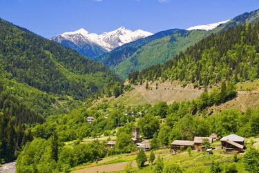 AS08MRU0239 Mountain scenery of Svanetia, Georgia