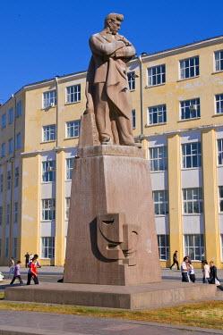 AS49MRU0099 Statue of Nizami, Baku, Azerbaijan
