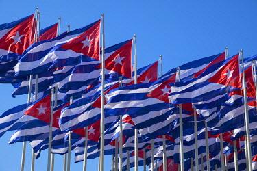 CA11BTH0115 Cuba, Havana. Flags wave in the breeze.